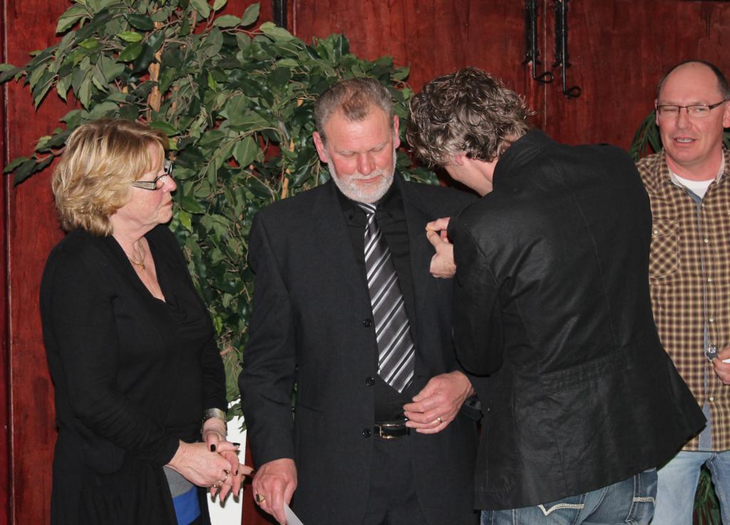Henk Kock gehuldigd wegens 40 jaar lidmaatschap